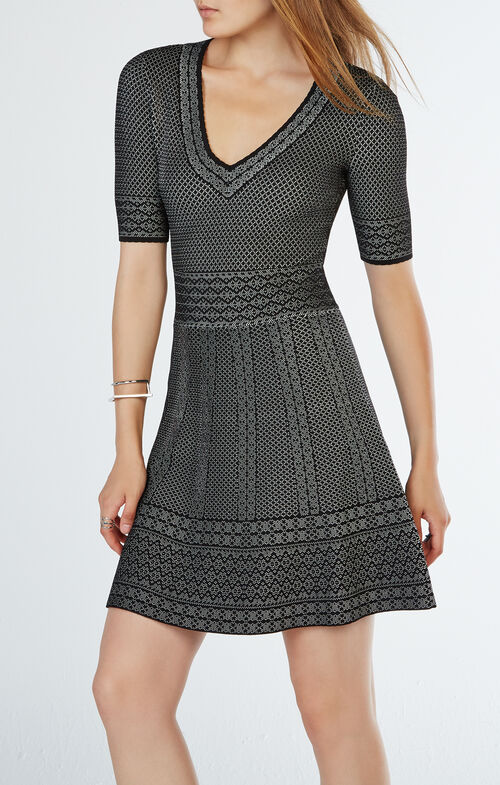 Bettina Knit Jacquard Dress