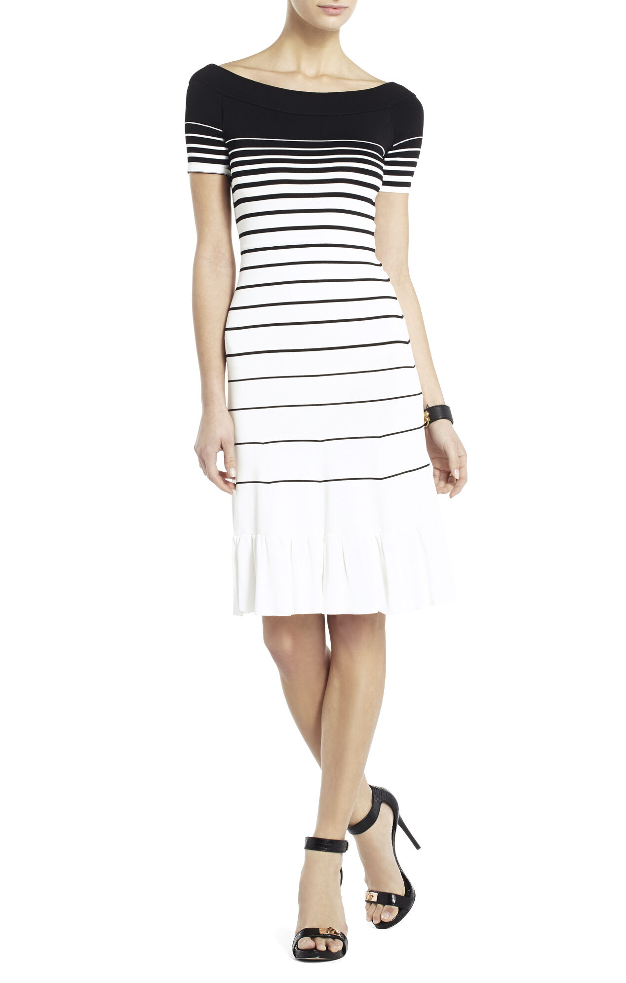 Agnese Gradient Stripe Dress