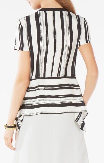 Cyra Striped Peplum Top