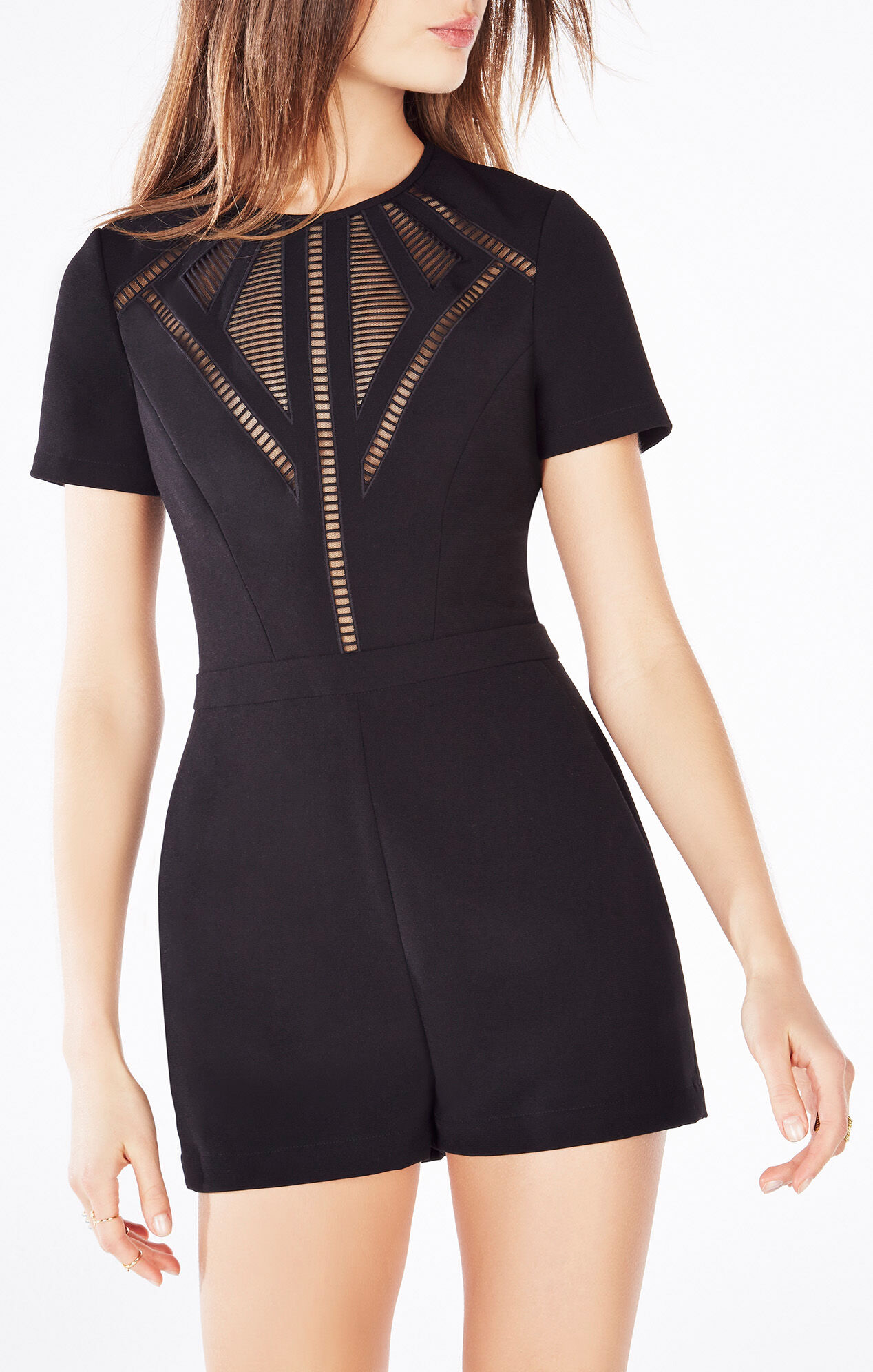 Maree ShortSleeve Embroidered Romper
