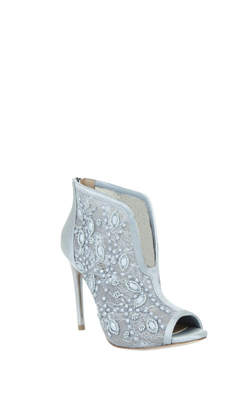 Deedie Peep-Toe Lace Dress Bootie