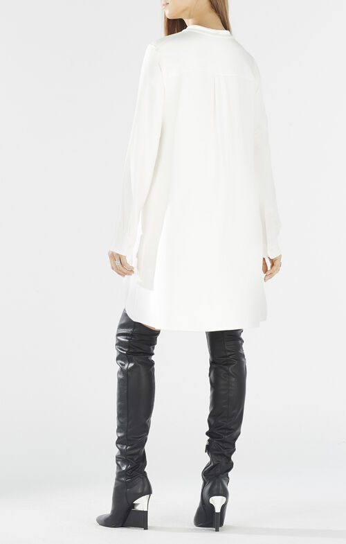 Rebekah Long-Sleeve Shirt Dress