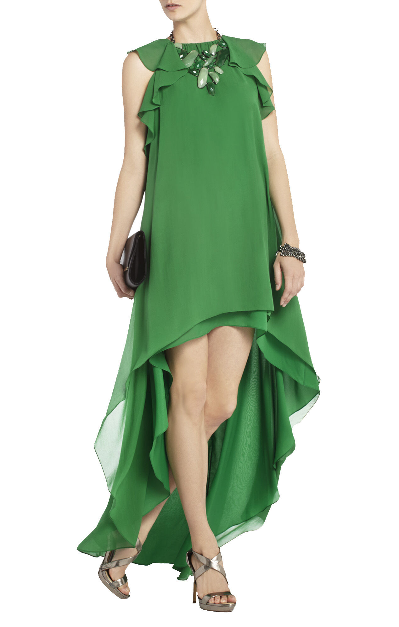Fais Silk High-Low Dress