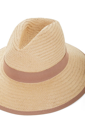 Color-Blocked Panama Hat