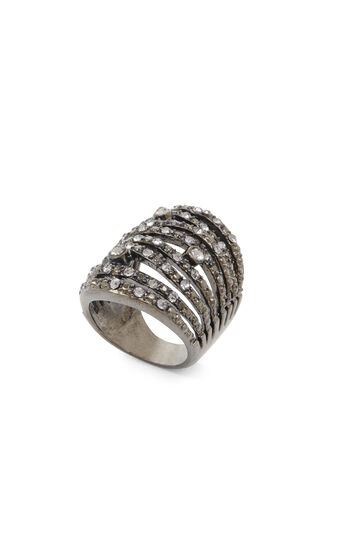 Layered Pave Ring
