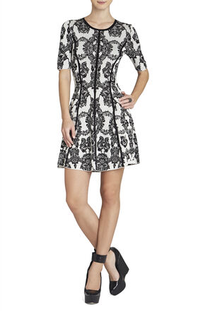 Thanda Lace Jacquard A-Line Dress