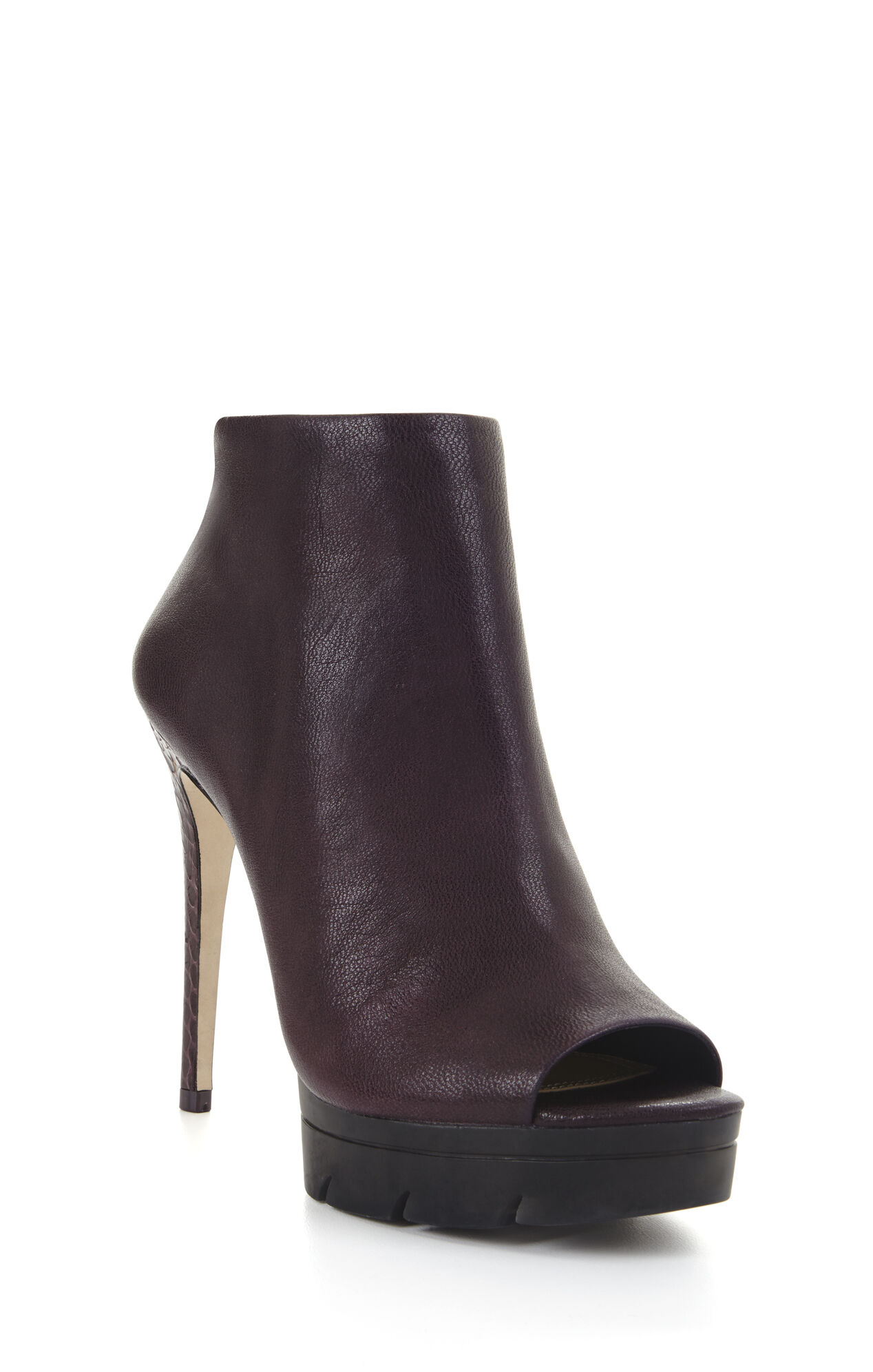 Hasten High-Heel Exotic Peep-Toe Bootie