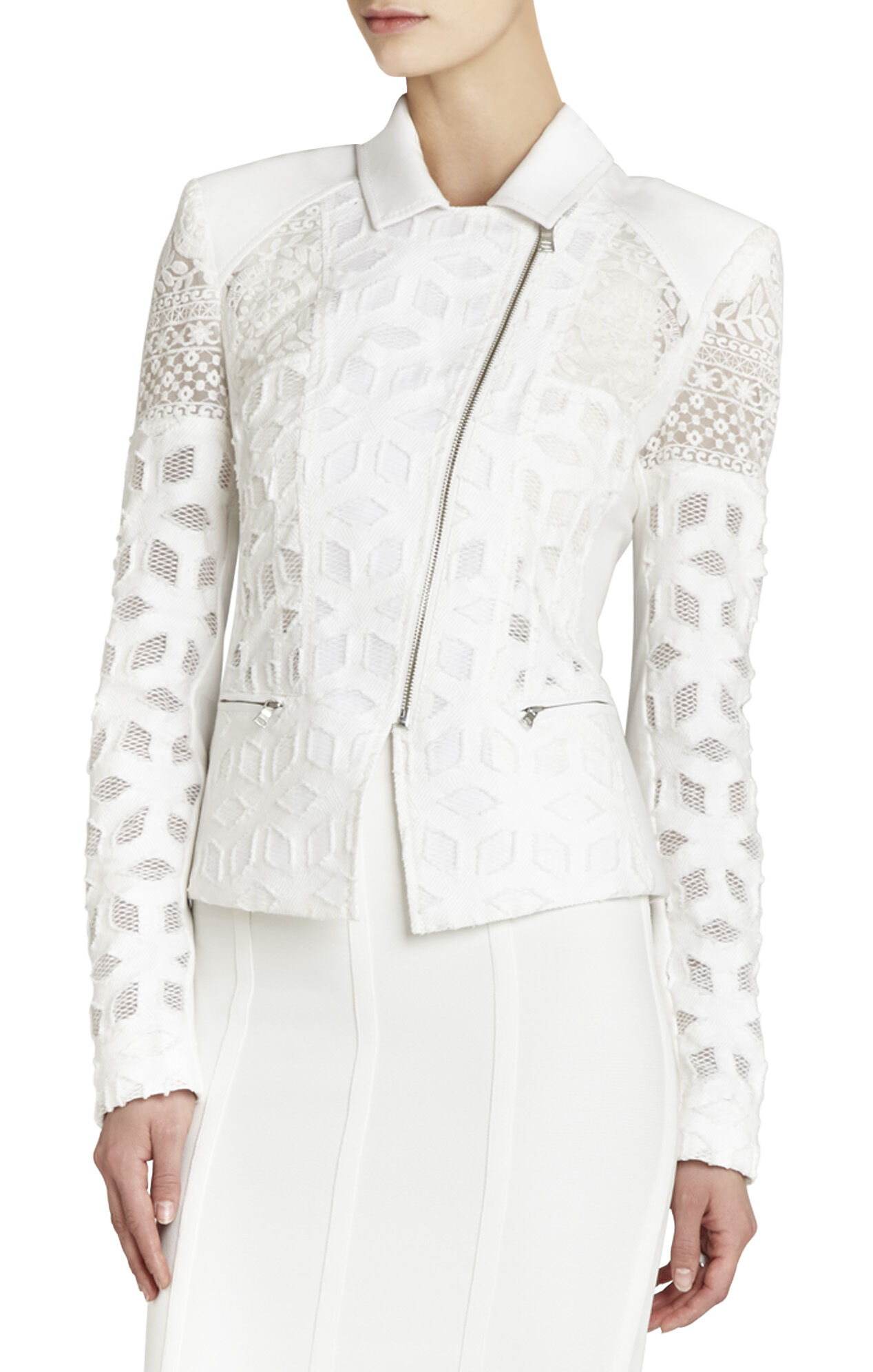 Boe Novelty Jacquard Lace Moto Jacket