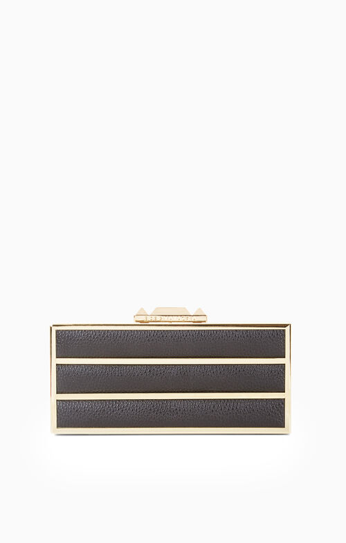 Devyn Striped Box Clutch