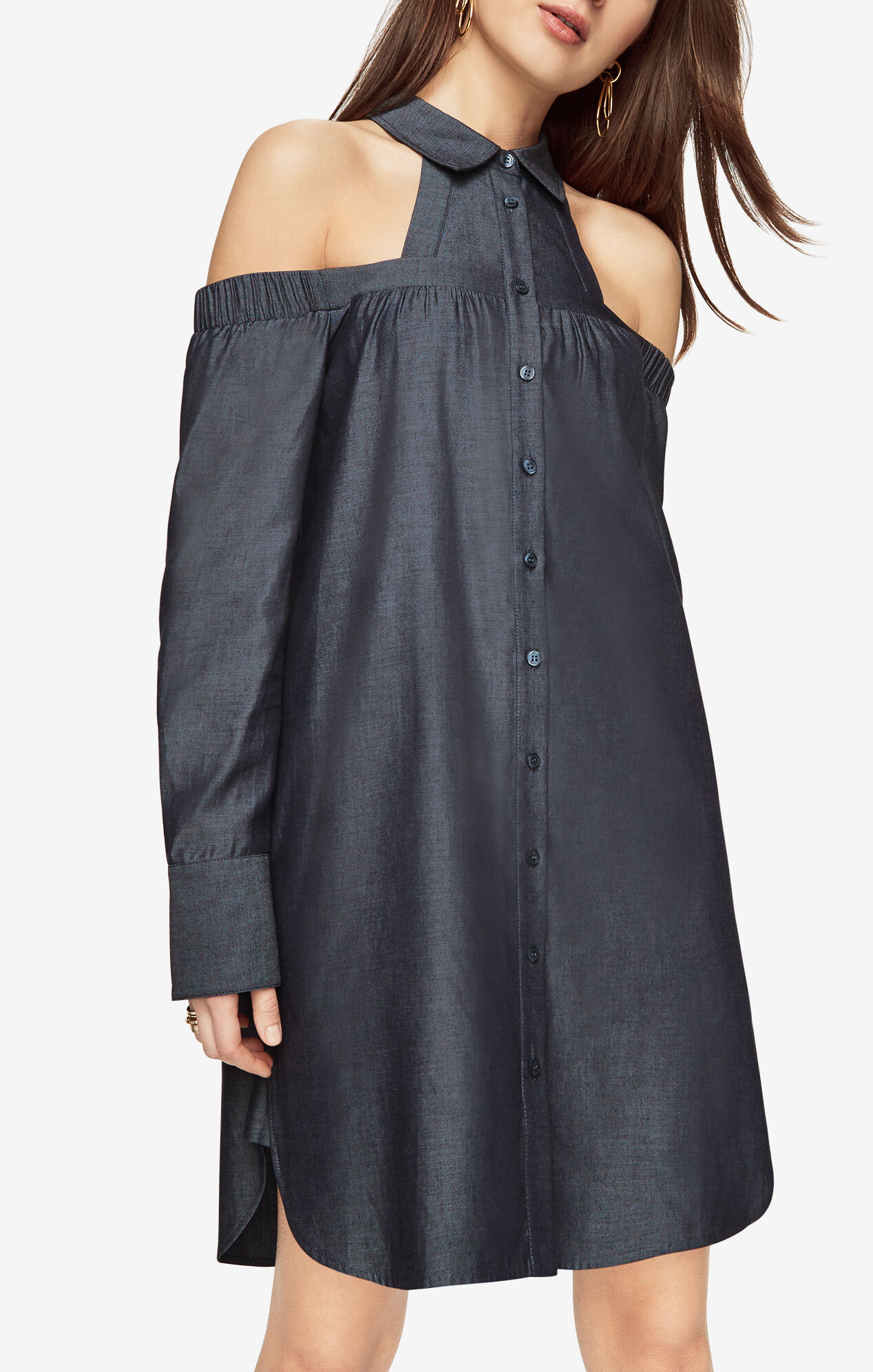 Rowan Cold Shoulder Shirt Dress