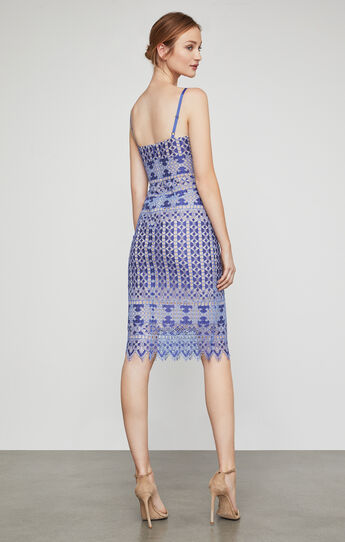 Alese Geometric Lace Midi Dress