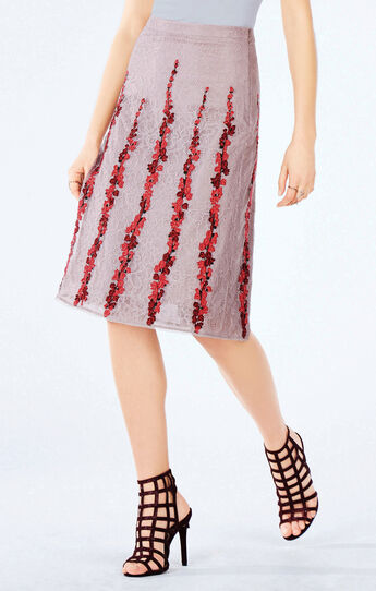 Condella Floral Embroidered Midi Skirt
