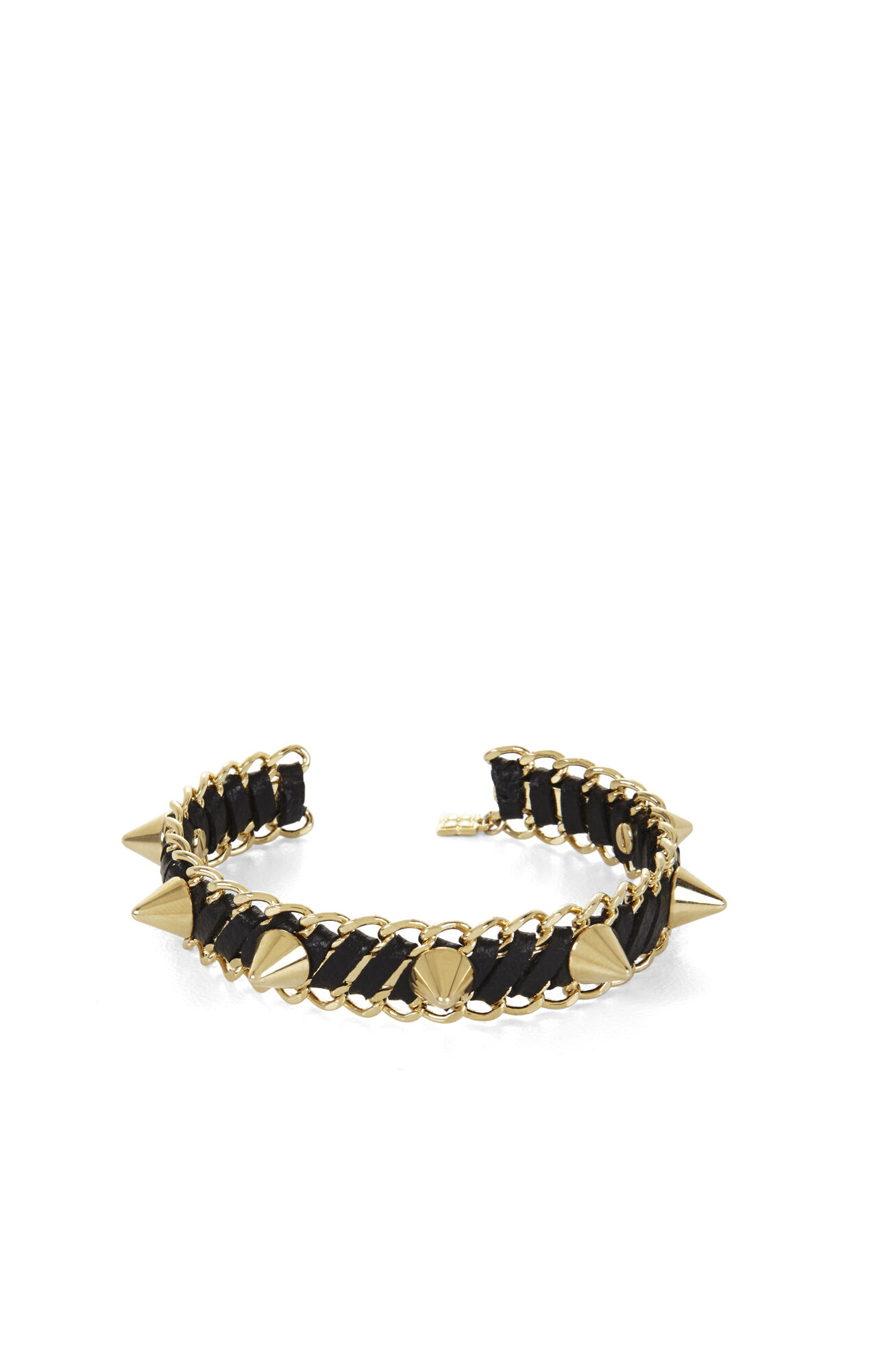 Studded Faux-Leather Cuff