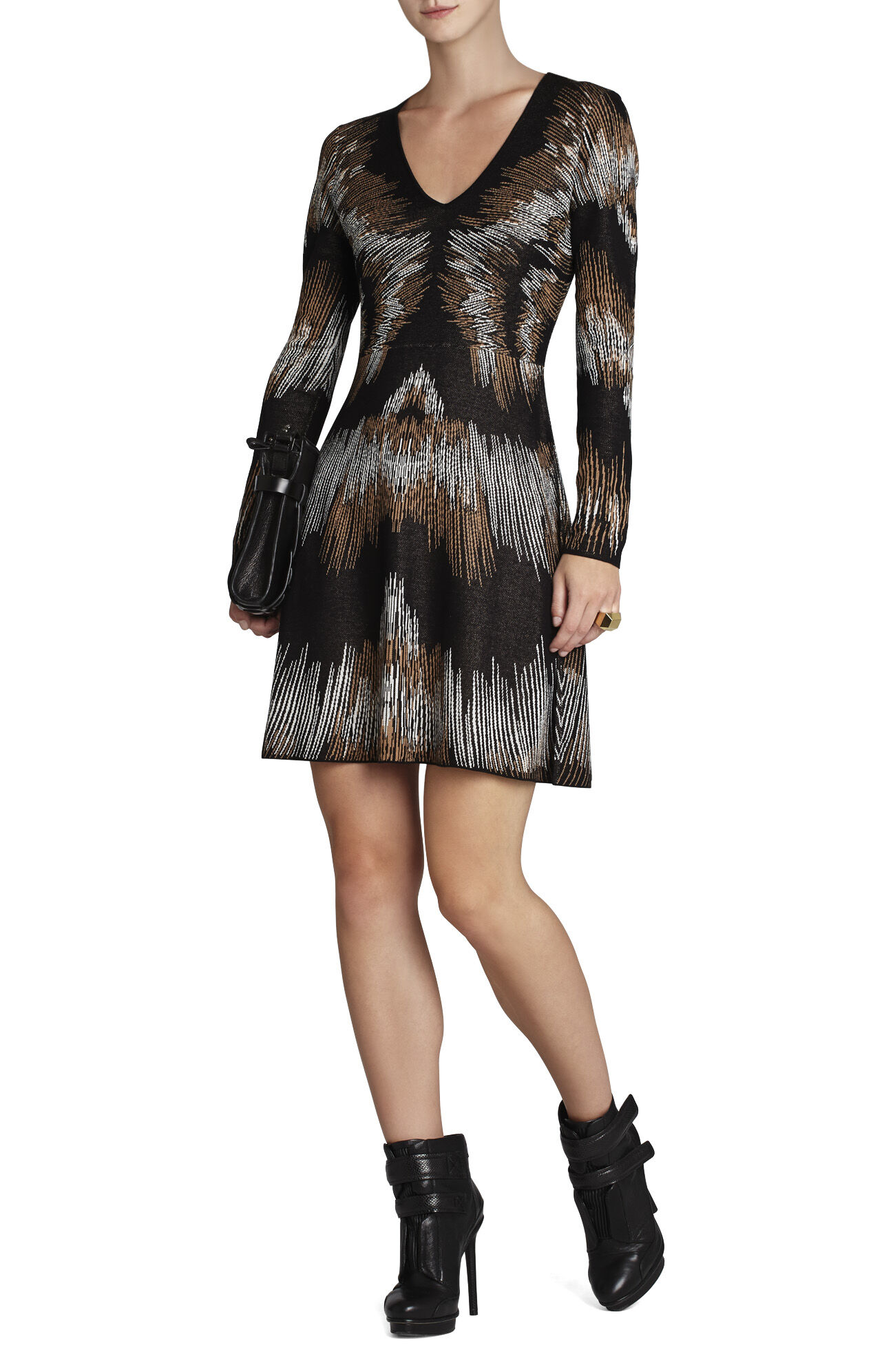 Katia Electric Strokes Jacquard Dress