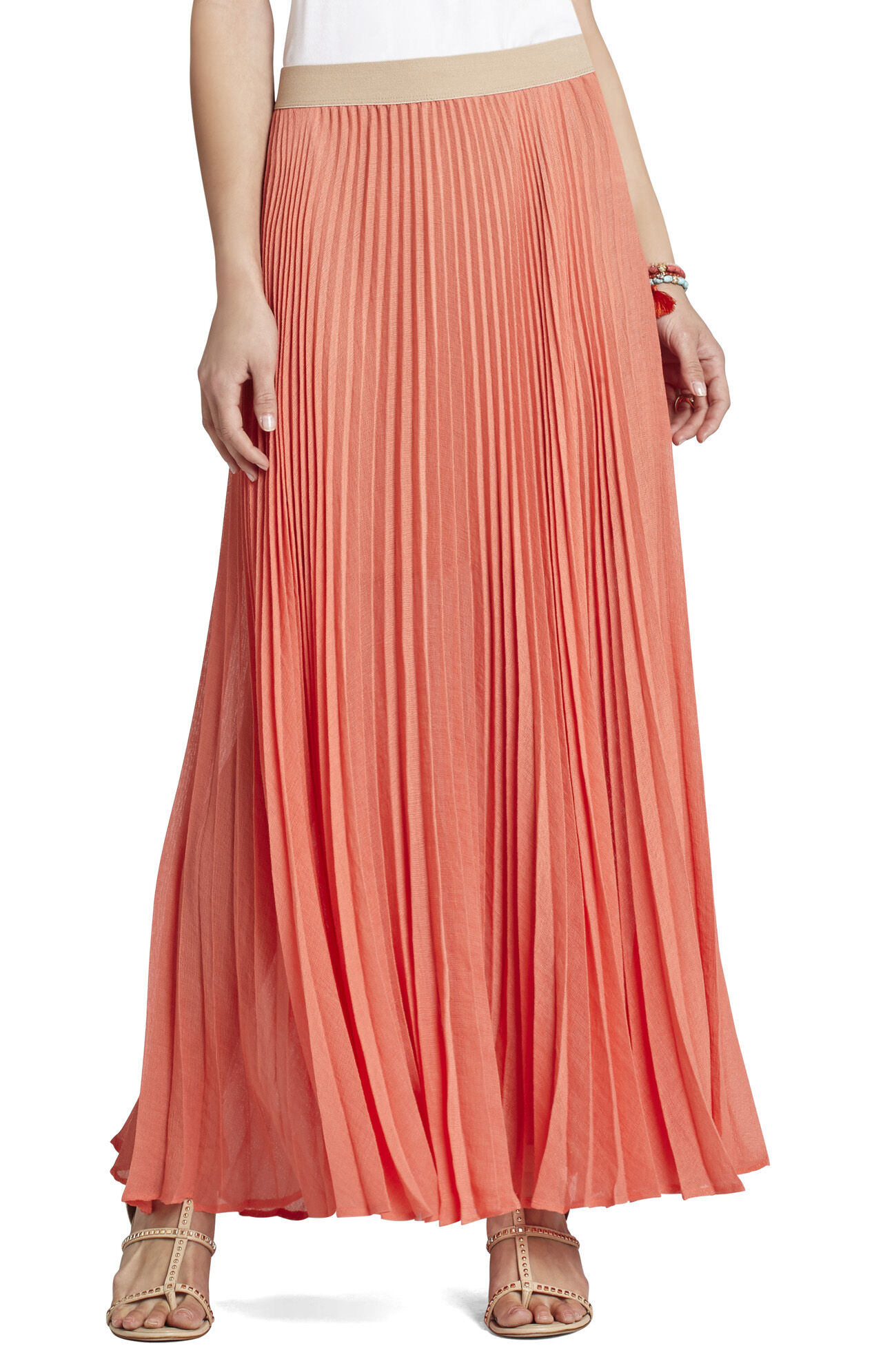 esten sunburst pleated maxi skirt