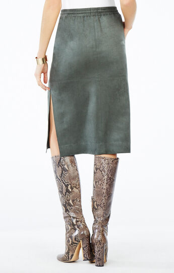 Zandra Faux-Suede Pencil Skirt