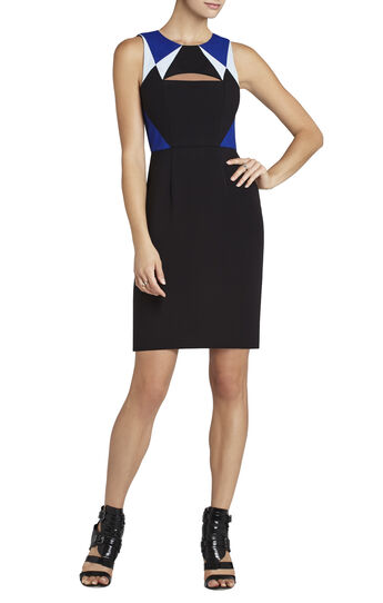 Karin Color-Blocked Cutout Sheath