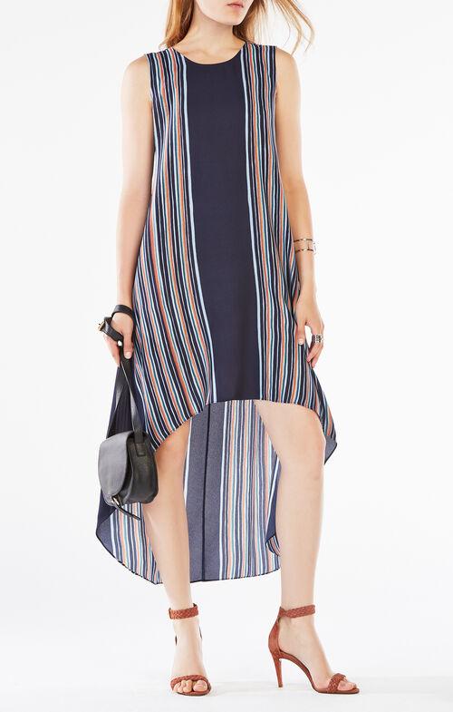 Mickayla Striped High-Low Dress