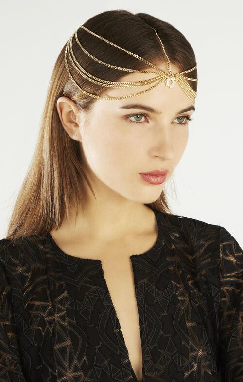Pave Sun Tri-Chain Elastic Headband