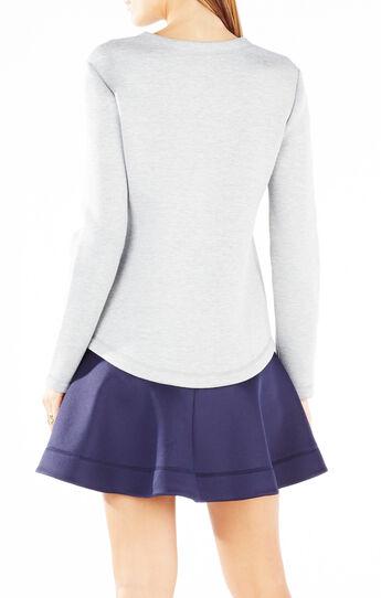 Genesa Flounce Hem Color-Blocked Dress