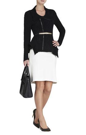 Zanzi Cabe-Knit Moto Jacket