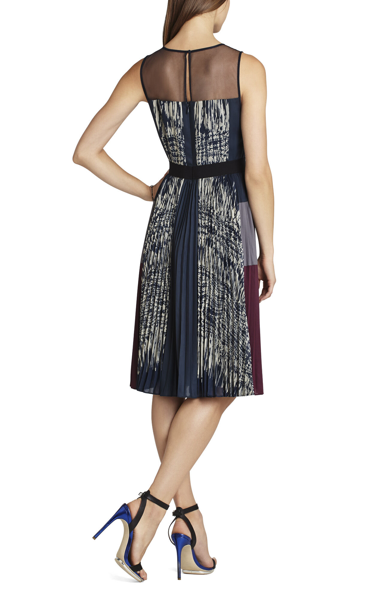 Lucea Pleated-Side Dress