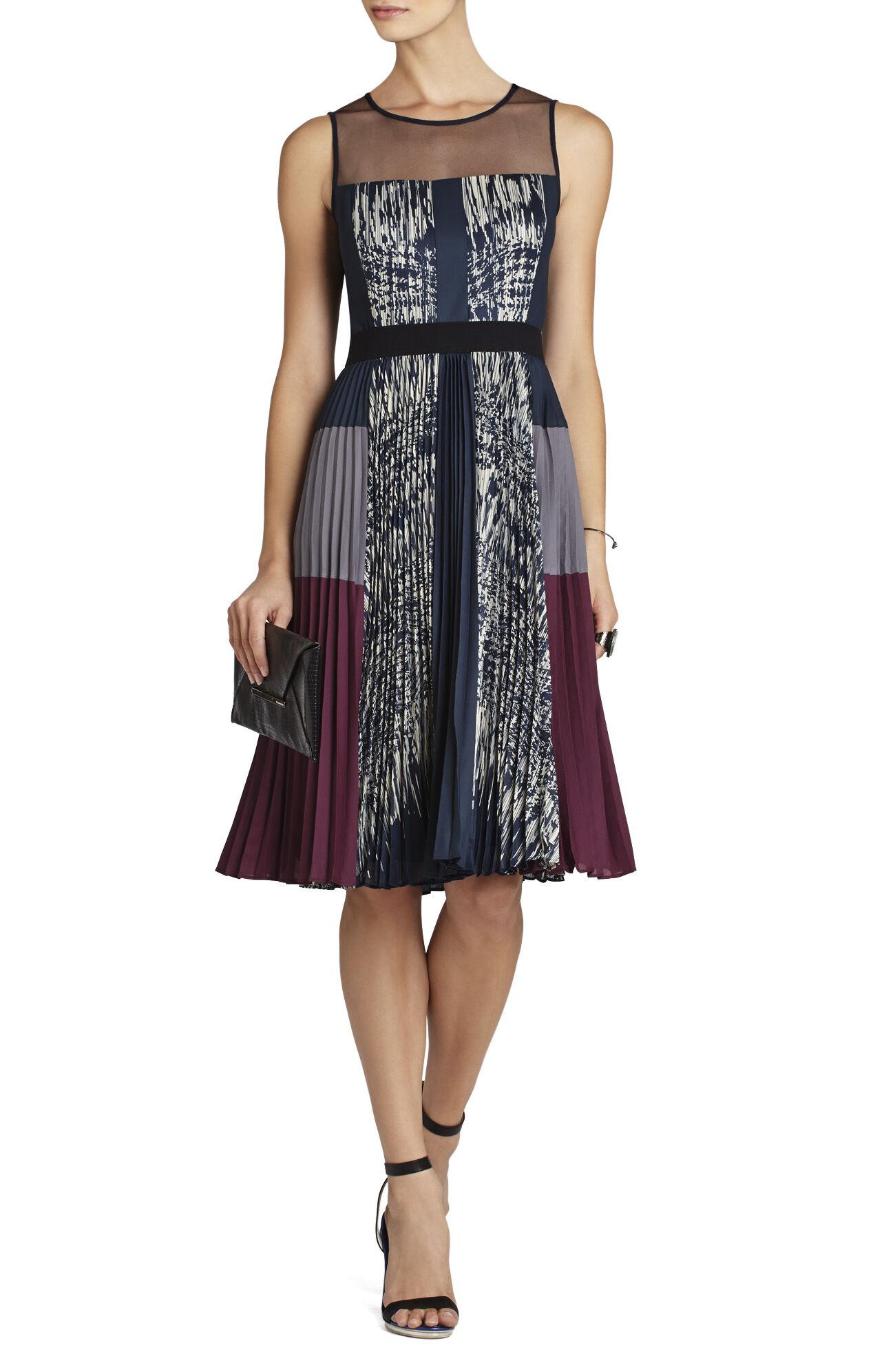 Lucea Pleated-Side Dress