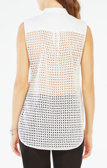 Keleigh Sleeveless Eyelet Top