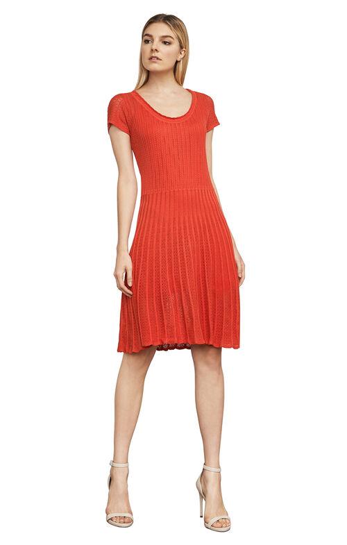 Anna Pointelle Silk-Knit Dress