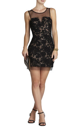 Abigail Embroidered Cocktail Dress