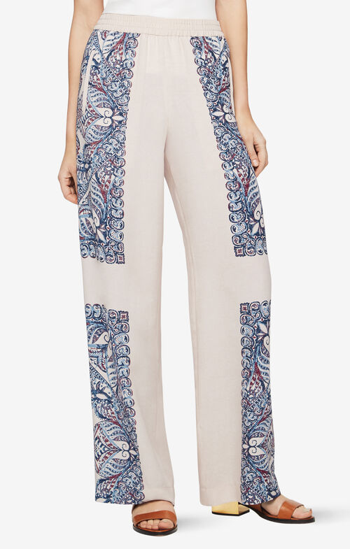 Joan Paisley-Print Pant