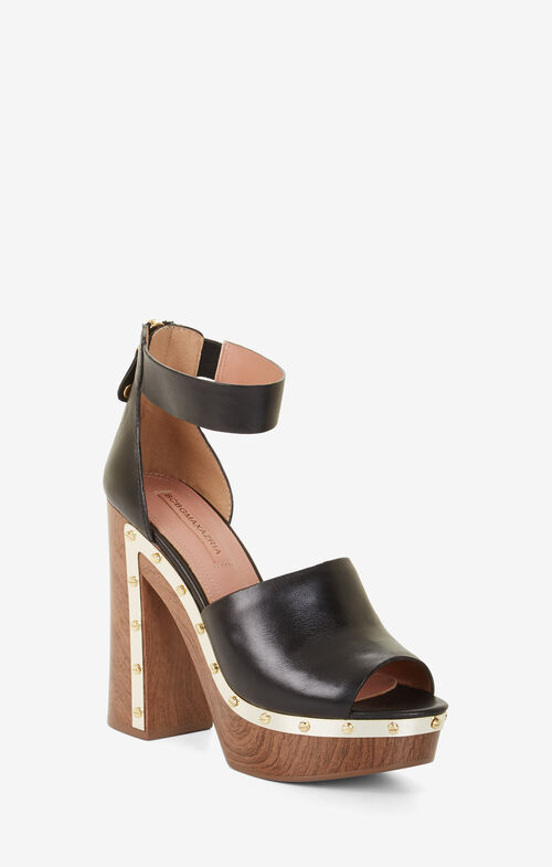 Nyla Leather Platform Clogs