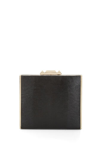Jodi Embossed Faux-Leather Clutch