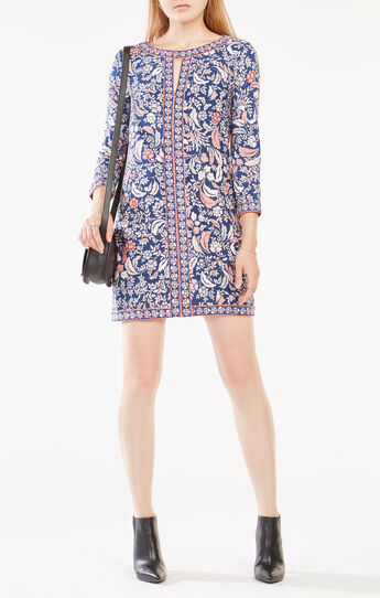 Calico Filigree Print Dress