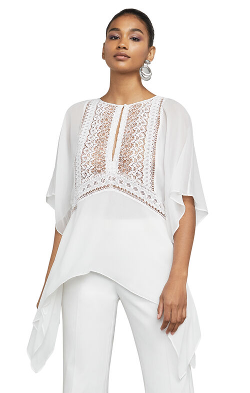 Milah Embroidered Asymmetrical Top