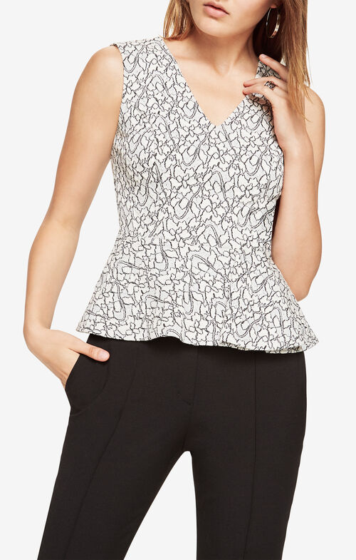 Amaya Lace Peplum Top