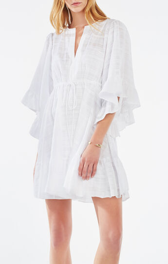 Emileigh Angel-Sleeve Tunic Dress