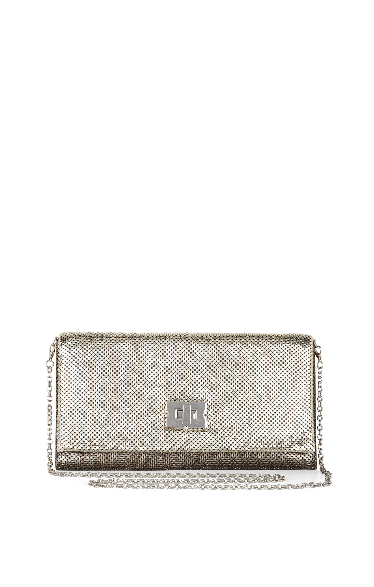 Blake Metal-Mesh Turn-Lock Clutch