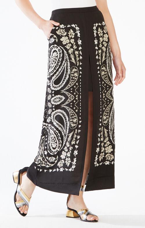 Jane Paisley Print Maxi Skirt
