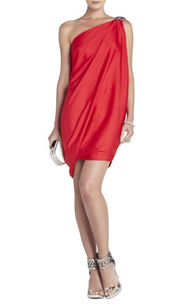 Atla One-Shoulder Draped Dress