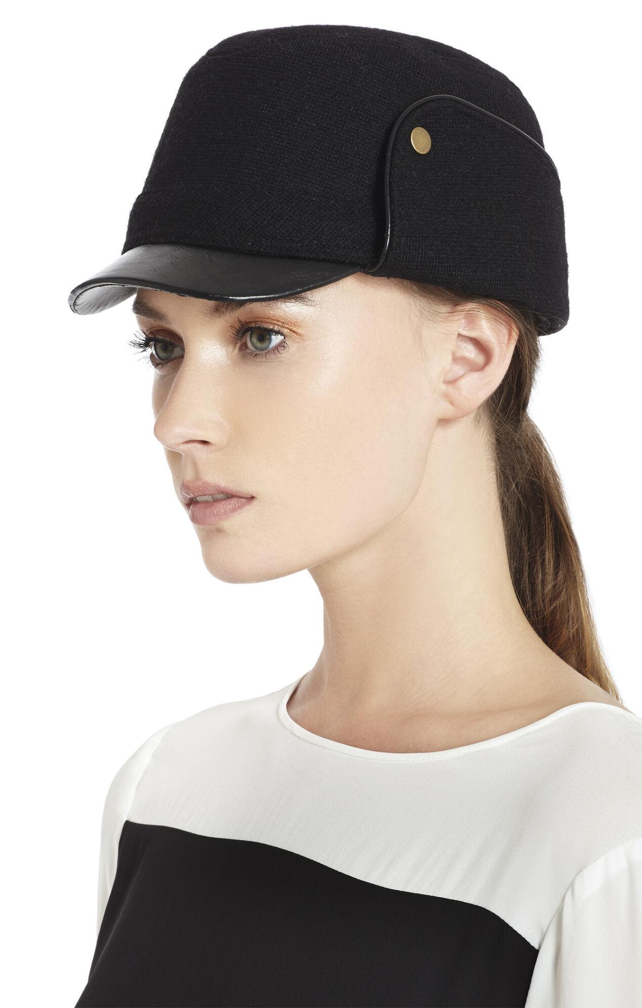 Contrast-Brim Trapper Hat