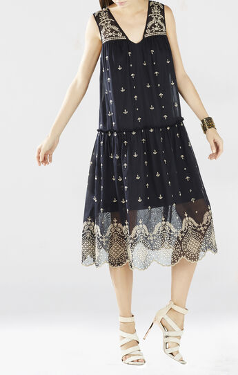 Samantha Eyelet Embroidered Dress
