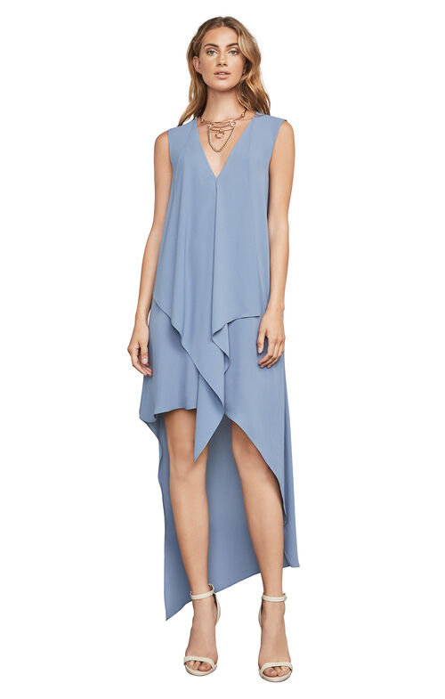 Tara Cascade-Ruffle Dress