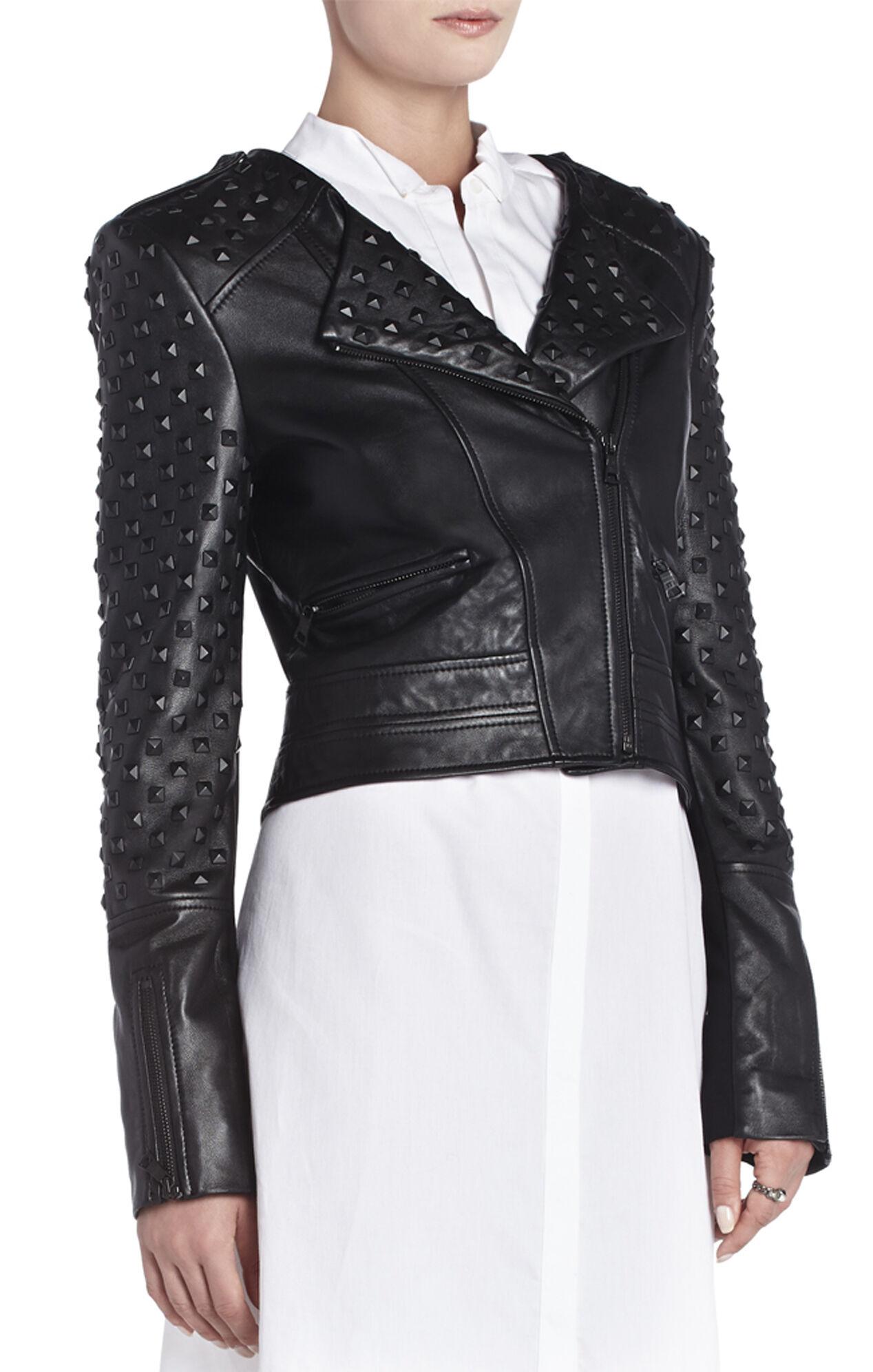 Novak Studded Leather Moto Jacket