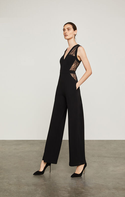 Tegan Lace-Blocked Jumpsuit