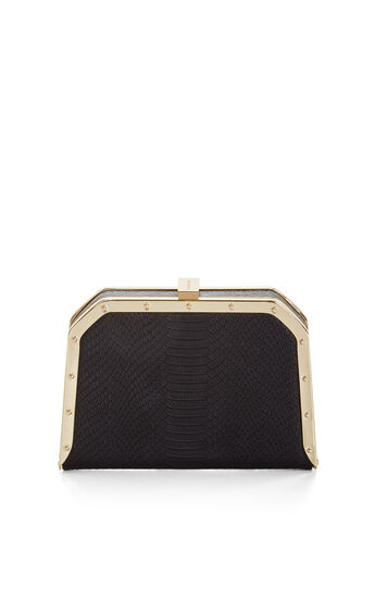 Leila Snake Embossed Clutch