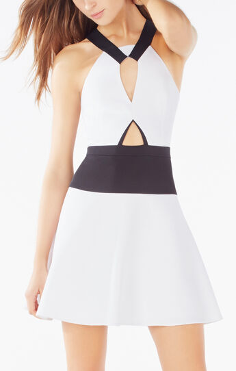 Kerilynn Cutout Color-Blocked Dress