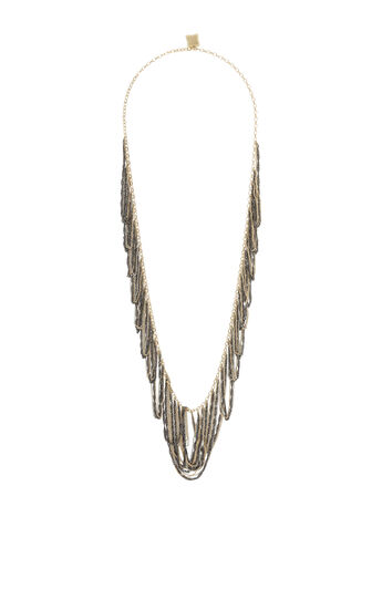 Looped Fringe Necklace