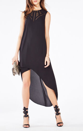 Mackenna Embroidered High-Low Dress
