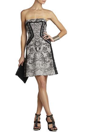 Sophiani Print-Blocked Dress